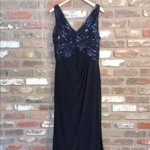 LAUREN by RALPH LAUREN EVENING Navy Maxi Dress 14